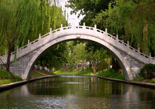 Bridge of Zizhu park Royalty Free Stock Image