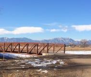 Bridged Gap. Open Space Colorado Lafayette Royalty Free Stock Photos