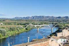 Bridgen i Mora D'Ebre Arkivbild
