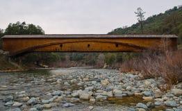 Bridgeport zakrywał most Obrazy Royalty Free