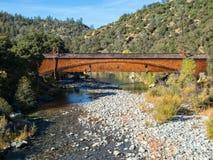 Bridgeport zakrywał most Zdjęcia Royalty Free