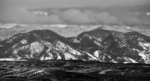 Bridger Mountains - Black and White. Black and white photo of the Bridger Mountains near Bozeman, MT Stock Photos
