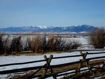 Bridger Mountains, Bozeman, Montana. Bridger Mountains as viewed from the southern end of Gallatin Valley just outside of Bozeman, MT USA Royalty Free Stock Image