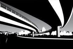 Bridges. Black and white cityscape Stock Image