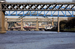 Bridges. Five of the seven bridges that cross the River Tyne between Newcastle and Gateshead UK Stock Photography