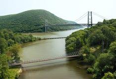 Bridges. Three bridges landscape view from above Stock Photos