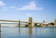 Bridges. Brooklyn and Manhattan bridges over East River, Manhattan, NY stock photography