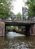 Bridges across canals in the Grachtengordel-West area of Amsterdam, Holland, Netherlands stock photos