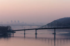 Bridges across the Dnieper Stock Images