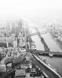 Bridges across Seine royalty free stock images