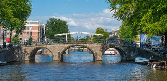 Bridges in Amsterdam Stock Photo
