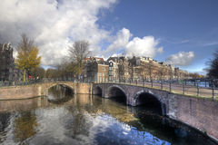 Bridges in Amsterdam Royalty Free Stock Photo