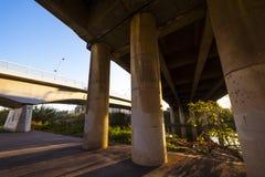 Bridges in Besos river in Barcelona Royalty Free Stock Photo