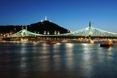 Bridges of Budapest. Liberty Bridge in Budapest, Hungary stock image