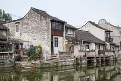 Bridges, canals of Fengjing Zhujiajiao ancient water town royalty free stock photos