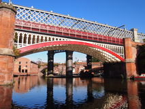 Bridges in Castlefield, Manchester UK Royalty Free Stock Images