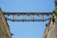 Bridges of the Channel of Corinth in Greece. Royalty Free Stock Photography