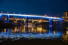 The bridges of Chongqing in night royalty free stock photo