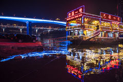 The bridges of Chongqing in night Royalty Free Stock Photography