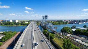 Southern entrance to Rostov-on-Don. Russia Stock Photos