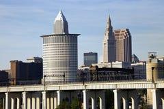 Bridges in Cleveland royalty free stock photo