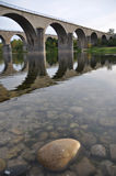 Bridges crossing the river. Bridges over the river Ardeche in France Royalty Free Stock Photography