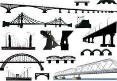 bridges den isolerade samlingen vektor illustrationer