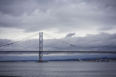 The Bridges, Firth of Forth, near Edinburgh, Scotland Royalty Free Stock Images