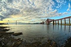 Bridges, Firth of Forth, Scotland Stock Photo