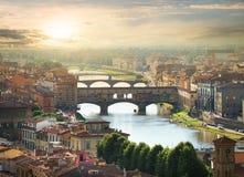 Bridges of Florence Stock Image