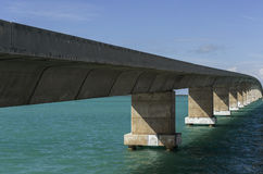 Bridges going to infinity. Bridge architecture landmark in Flori Royalty Free Stock Photo