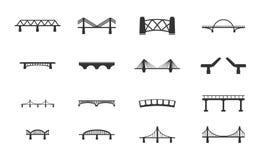 Bridges icons set Royalty Free Stock Photography
