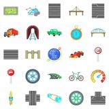 Bridges icons set, cartoon style. Bridges icons set. Cartoon set of 25 bridges vector icons for web isolated on white background vector illustration