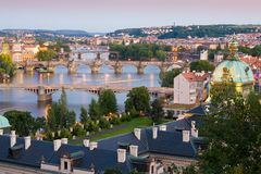 Bridges In Prague Over The River Royalty Free Stock Images