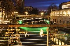 Bridges on Ljubljanica River Royalty Free Stock Image