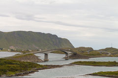 Bridges between Lofoten islands, Norway Royalty Free Stock Photos