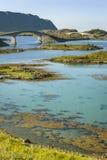 Bridges in Lofoten Islands, Norway Royalty Free Stock Photo
