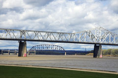 Bridges in Louisville royalty free stock photo