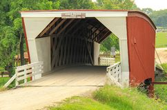 Bridges of Madison County most famous Cedar Bridge royalty free stock photography