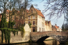 Bridges in medieval Bruges Stock Photos
