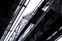 Bridges and metal structures the Ubrian landscape Stock Photo