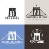 Bridges. New York symbol - Brooklyn Bridge - vector illustration Royalty Free Stock Image