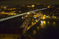 Bridges at night Royalty Free Stock Photography