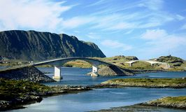 bridges norway Royaltyfri Fotografi