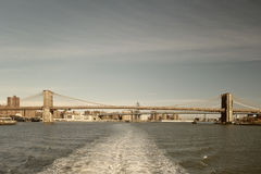 Bridges of the NYC. Royalty Free Stock Photo