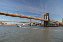 Bridges of the NYC. Royalty Free Stock Images