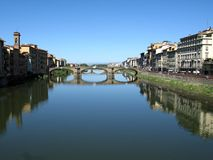 Bridges over Arno river Royalty Free Stock Images
