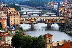 Bridges over Arno River, Florence Stock Photo