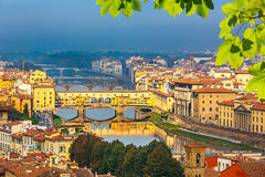 Bridges over Arno river in Florence Royalty Free Stock Photography