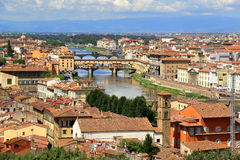 Bridges over Arno River in Florence, Italy Stock Photo